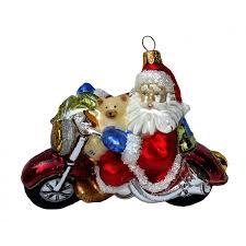 Christbaumschmuck Weihnachtsmann Auf Motorrad