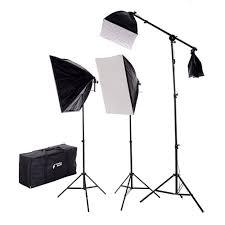 lighting set. New Design 2275 Watt Photo Studio Lighting Quick Setup Softbox Video Light Kit Boom Set \u0026 E