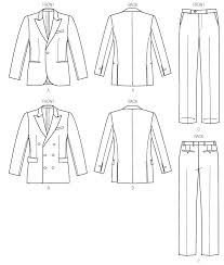 Suit Pattern Delectable V48 Men's Single Or DoubleBreasted Suit Jacket And Pants Sewing