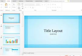 light airy and beautiful sheer blue powerpoint template
