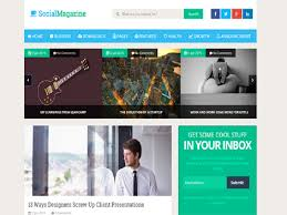 Free Downloads Web Templates Social Mag Template Free Download For Personal