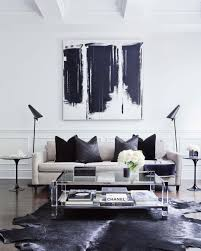 Modern Black And White Living Room For Those Who Love Swoon Worthy Interiors With A Modern Glam Pov