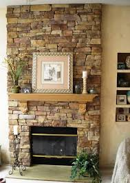 image of refacing fireplace with stone veneer