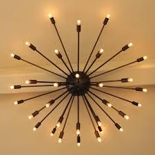 modern flush mount sputnik chandelier add custom made high end lighting
