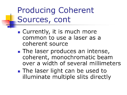Coherent Sources Of Light Chapter 24 Wave Optics Ppt Download