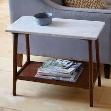 reeve mid century side table marble