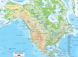สหรัฐอเมริกาแผนที่ทางภูมิศาสตร์-แผนที่ทางภูมิศาสตร์ของอเมริกา(อนเหนือของ อเมริกา-Americas)