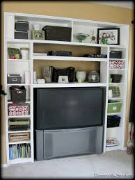 Bed With Tv Built In Home Design Built In Bookshelves With Tv Paving Decorators The