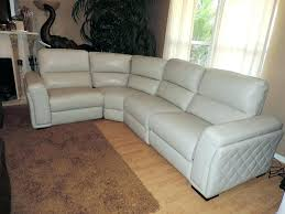macys leather couch sofa leather sectional sofa new s quilted side dual electric reclining within s