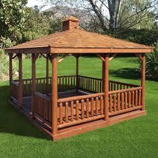 cedar pavilion kits. Interesting Pavilion Rectangle Log Gazebo And Cedar Pavilion Kits F