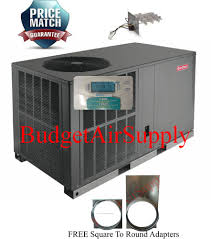goodman 5 ton. 2 ton 14- 14.5 seer goodman heat pump package unit gph1424h41+heat+tstat 5