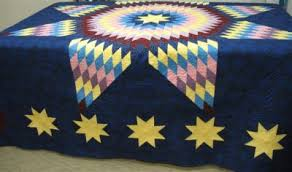 Lone Star Quilt Pattern for a Stunning Border & quilting motif Adamdwight.com
