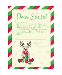 Santa Letter Template 9 Free Word Pdf Psd Documents