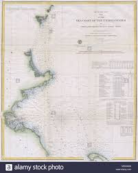 Tide Chart For Gloucester Massachusetts English A Rare Hand Colored 1857 Coastal Chart Of The