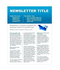 Newsletter Cover Letter Corporate Newsletter Template Company Samples Free For