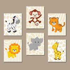 like this item  on jungle wall art for baby room with baby boy safari nursery wall art jungle animals decor canvas
