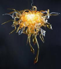 Us 7900 Brilliant Bernstein Farbe Blume Lampen Für Wohnzimmer Led Handmade Mundgeblasenem Glas Kronleuchter Leuchte In Pendelleuchten Aus Licht