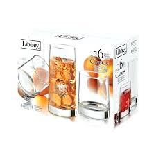 libbey drinking glasses square glassware set
