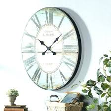clock mirror oversized oval wall stickers more giant w with skeleton clocks modern round wall clock