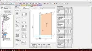 Counterfort Retaining Wall Design Software Cantilever Retaining Wall Design In Midas Design 2017