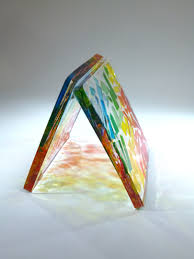 Multi-coloured square resin coaster by Janice Gibbs – Nice Things Ramsgate