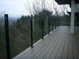 glass deck railing system large glass deck railing systems glass deck railing systems seattle
