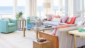 Mod living furniture Living Room North Carolina Living Room Coastal Living 48 Beautiful Beachy Living Rooms Coastal Living