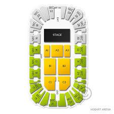 Hobart Arena Seating Chart Hobart Arena Concert Tickets