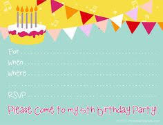 Birthday Invitation Templates Free Download 170 Best Free Printable Birthday Party Invitations Images Party