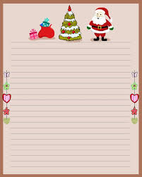 Christmas Letter Stationery Templates Printable Christmas Stationery