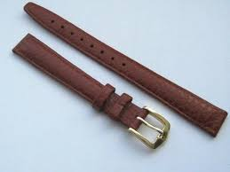 12mm hirsch arizona brown leather watch strap gilt buckle fast delivery