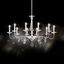 schonbek lighting 9695n 40cl jasmine 10 light 110v chandelier in silver with clear optic crystal