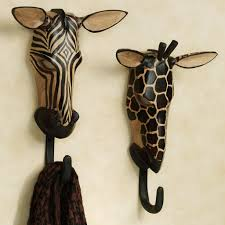Decorative Bathroom Towel Hooks Unique Towel Hooks With Natural Wild Animals Wall Hook Set Ideas