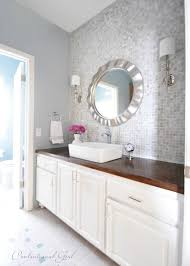 wood countertop on bathroom vanity from centsational girl