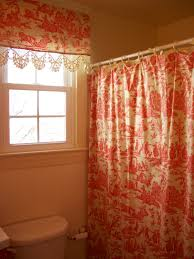 retrospect red toile shower curtains with valance bathroom shower curtains sets
