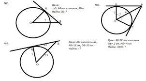Научные разработки Решение задач по готовым чертежам 8 класс Касательная к окружности
