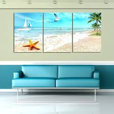 beach wall art 3 piece canvas wall art sea waves waves canvas art wall pictures for