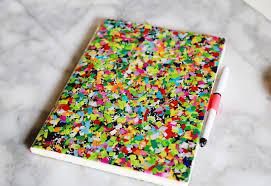diy office supplies. confettinotebookcraftfromofficesupplies diy office supplies