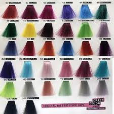 Details About Crazy Color Dye Semi Permanent In Cream Coloration Hair 100 Ml By Renbow