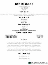 Simple Ats Friendly Cv Template With Centred Information Using The