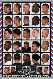 Barber Hairstyles Chart 24 X 36 Modern Barber Shop Salon Hair Cut For Men Chart Poster 2