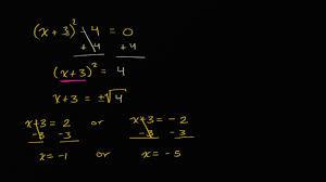 solving quadratics by taking square roots