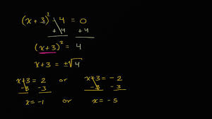 solving quadratics by taking square roots