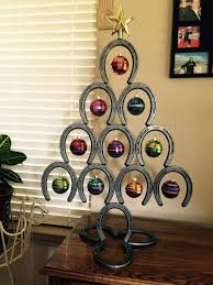 Horse shoe Christmas tree | http://www.facebook.com/photo
