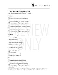 This Is Amazing Grace Lead Sheet Lyrics Chords Bethel