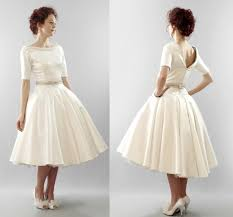 tea length wedding dress with sleeves. vintage tea length wedding dresses dress with sleeves