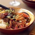 braised fennel with onions and peppers
