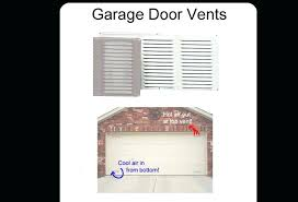 garage door vent with screen door with vents