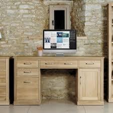mobel solid oak twin pedestal computer desk by baumhaus baumhaus mobel solid oak 3
