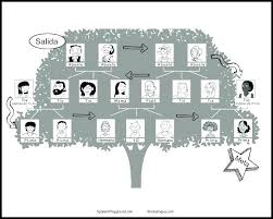 Printable Stencils For Kids Family Tree Template Kids Learn Members With This Board Game Made
